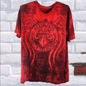 Affliction Day Of Reckoning Red Men's TShirt